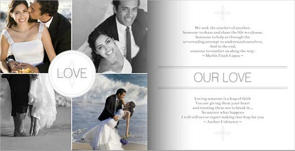 modern grey wedding album template
