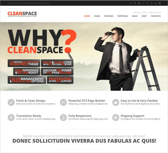 ready business wp html5 blog theme