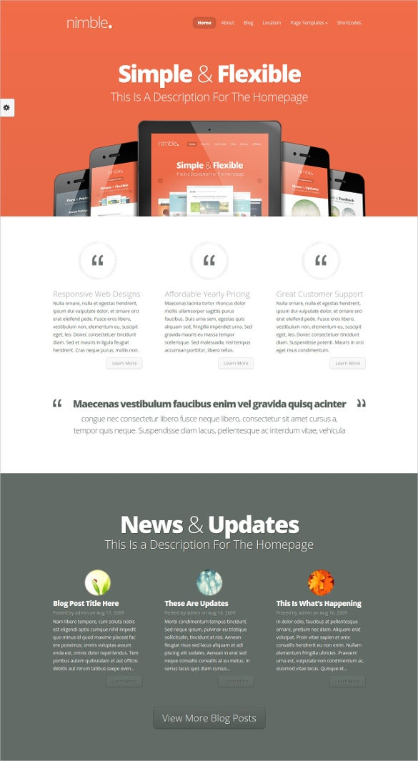 beautiful descriptive blog website template