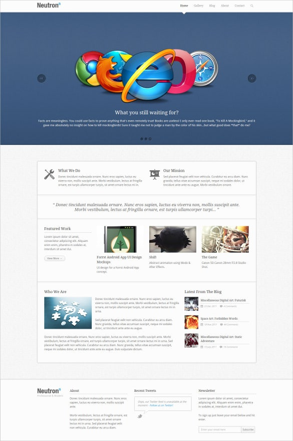 multipurpose business blog website template