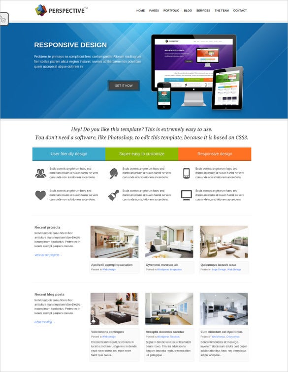 multipurpose blig html5 website template