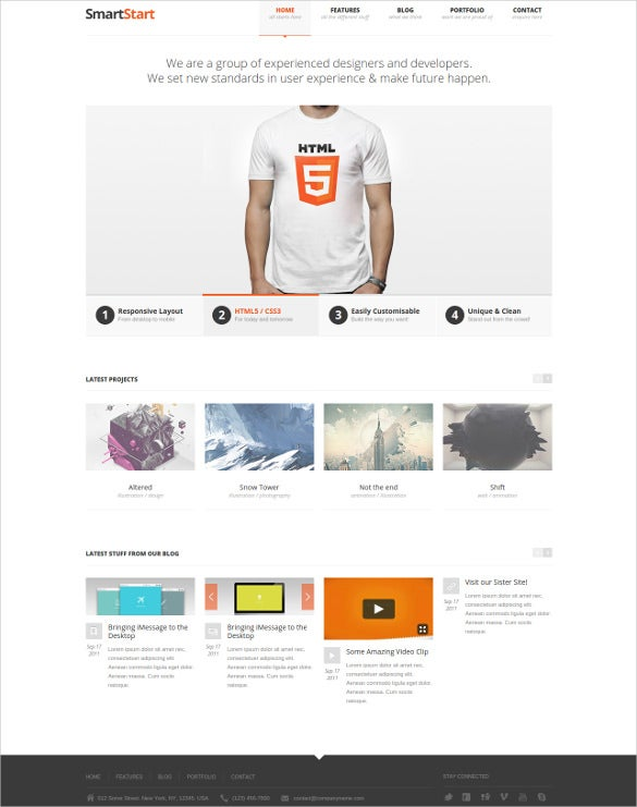 developers blog website template