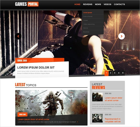 46+ Gaming Website Themes & Templates | Free & Premium Templates
