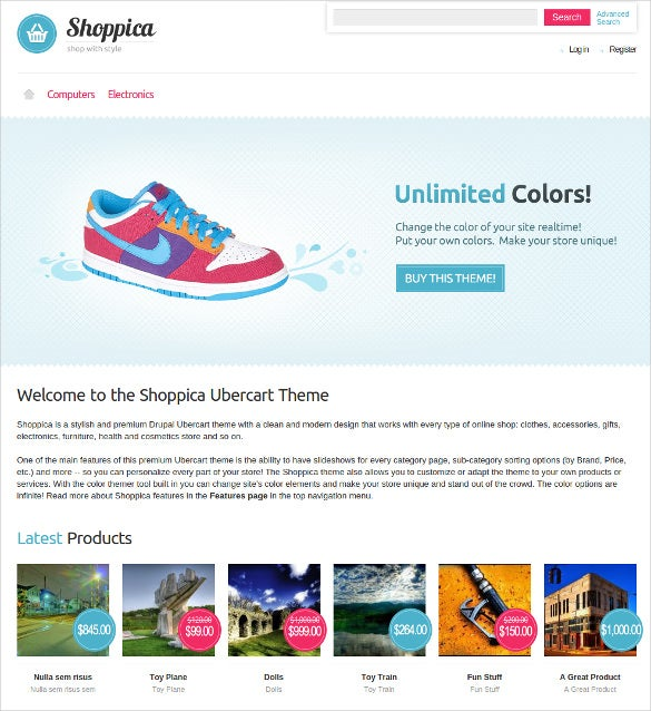 simple shoppica ecommerce theme