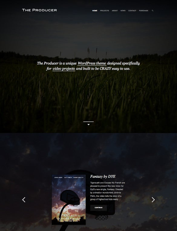responsive film studio wordpress theme