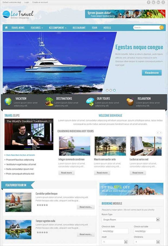 leo travel joomla website template