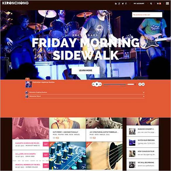 kerochong wordpress website template