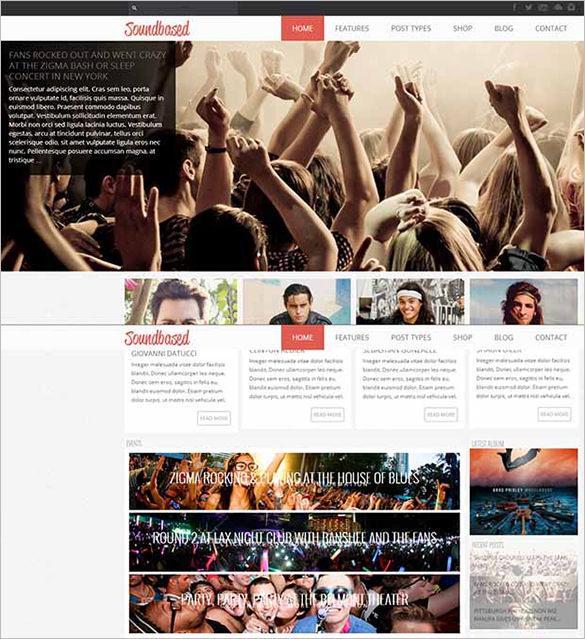 soundbased wordpress website template