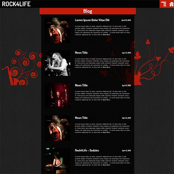 rock4life wordpress website template