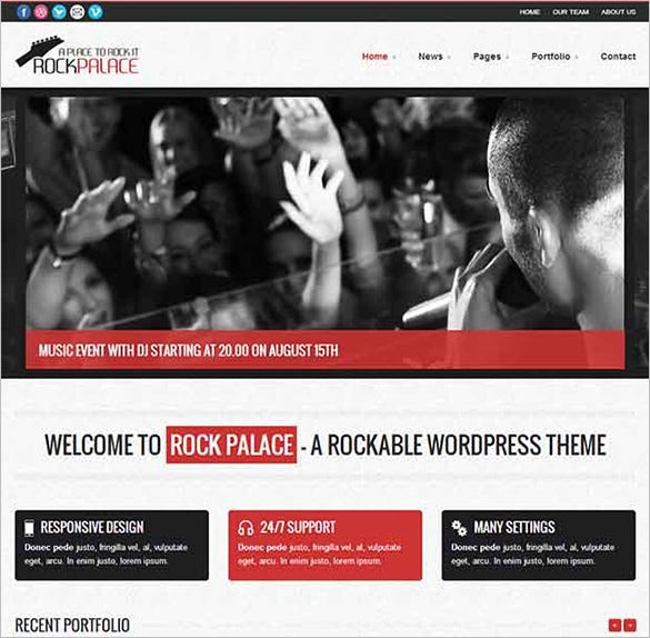 rock palace wordpress website template