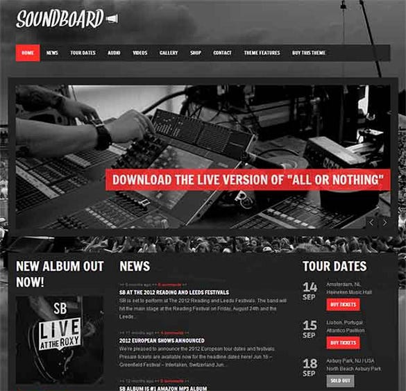 soundboard wordpress website template
