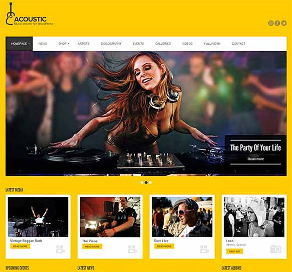 acoustic wordpress website template