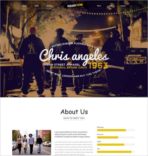 noise html website template