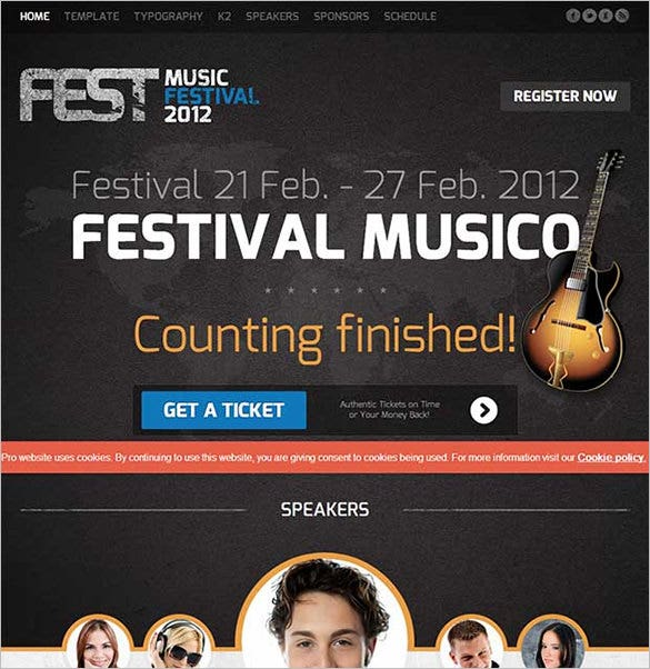 fest wordpress website template