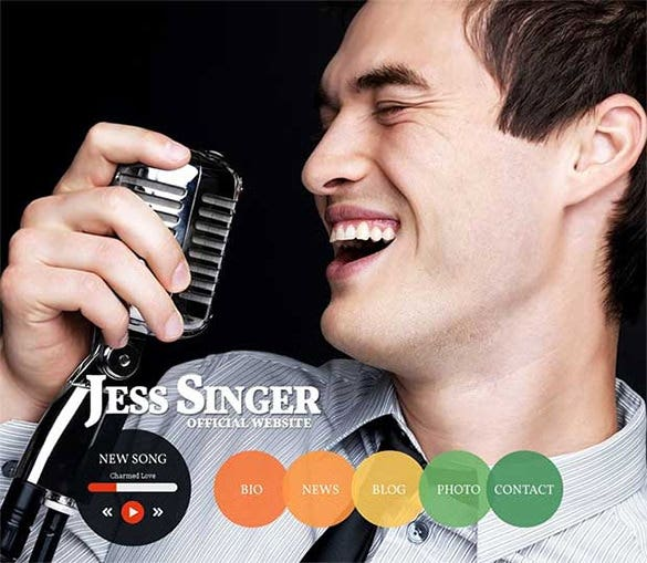 singer drupal website template