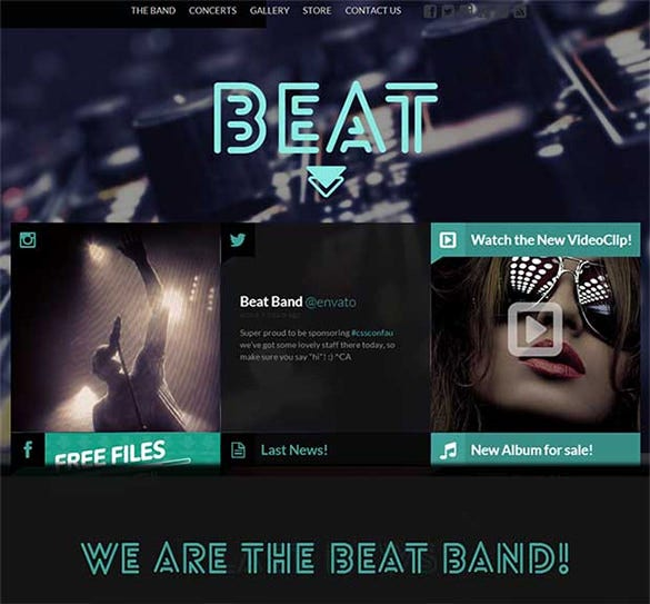 beat html website template