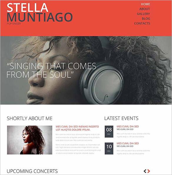 singer bootstrap website template