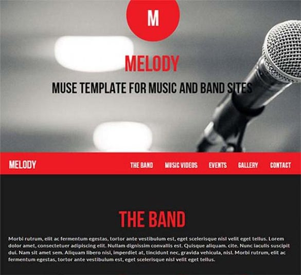 melody html website template