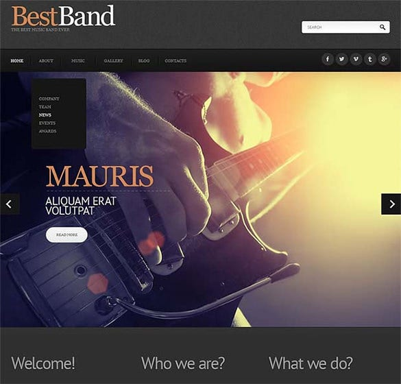 music band 44839 joomla website template