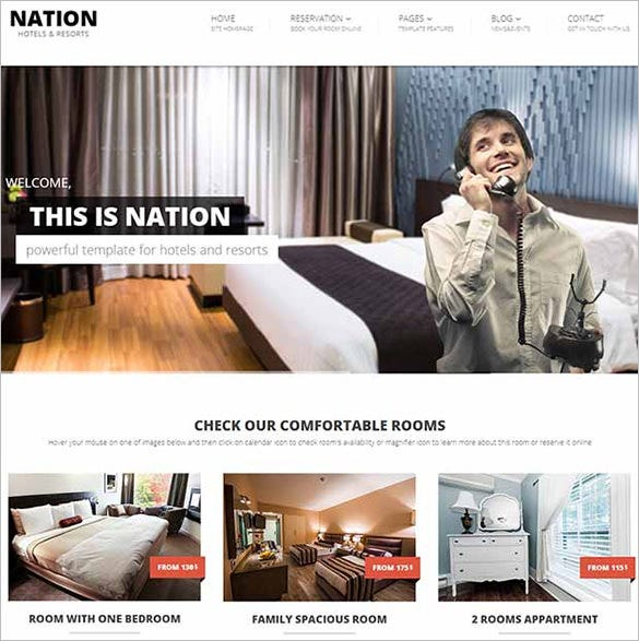 nation html and css3 website template