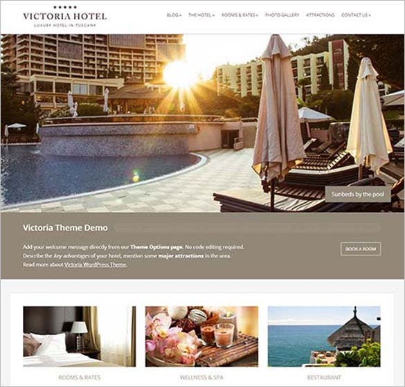 victoria wordpress website template