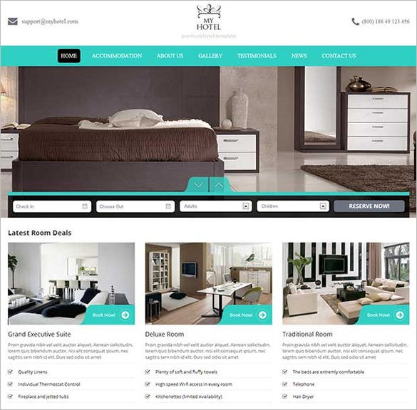 my hotel wordpress template