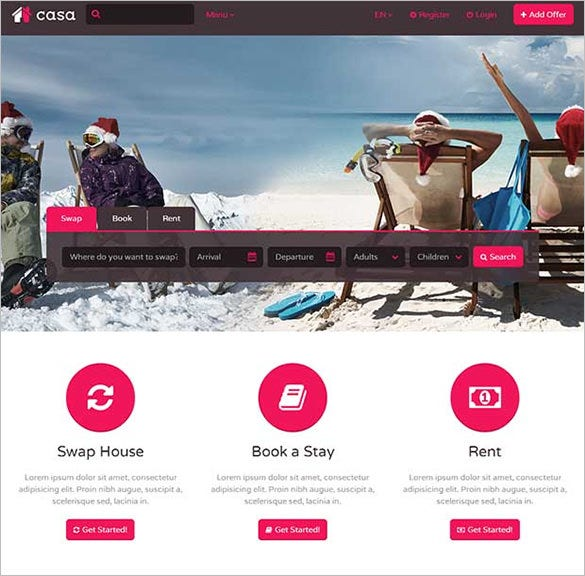 casa html website template
