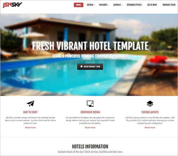 joomla shine joomla website template
