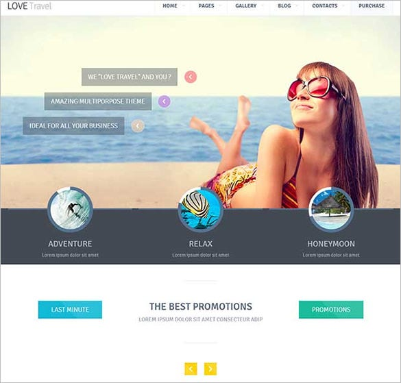 love travel html website template