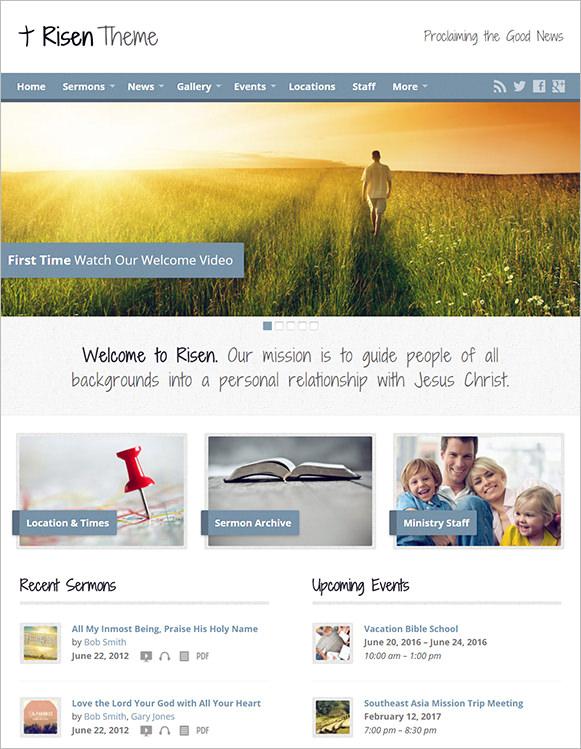 risen church website them