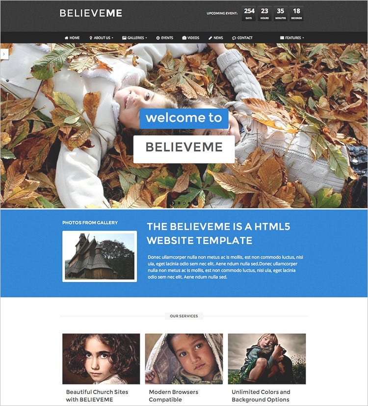 premium church website theme