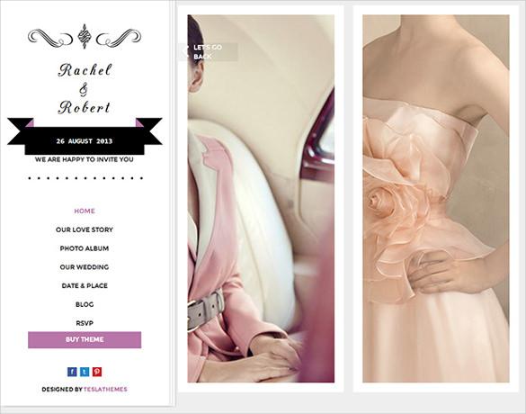 wedding day wordpress website theme