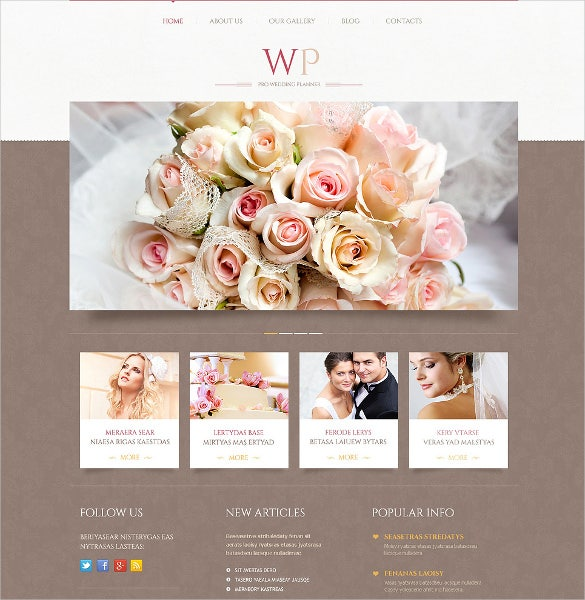 premium wedding wordpress website theme