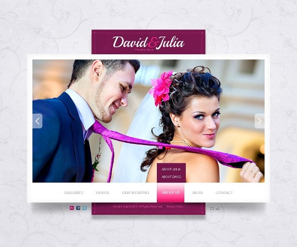 wedding album flash website template1