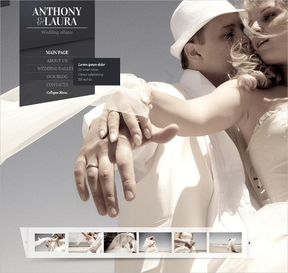 wedding album joomla website theme