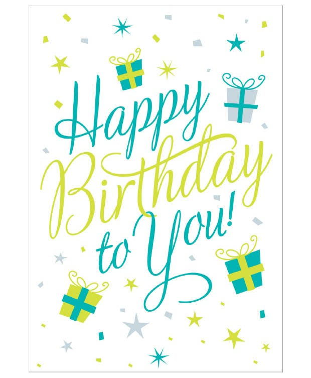 Superieur Happy Birthday. This Is A Vibrant Template Which Comes With A Print Ready  Option For The Professionals. Make Use Of The Simplistic Layout Which Also  ...