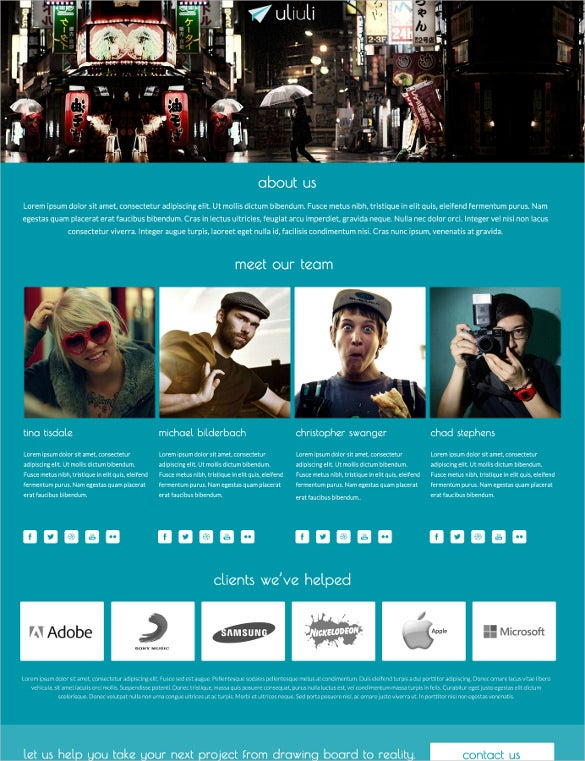 responsive business full screen html5 theme