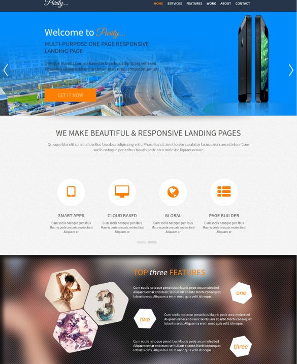 responsive business landing page html5 theme