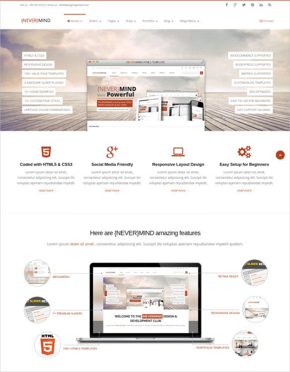 all in one html5 website template1
