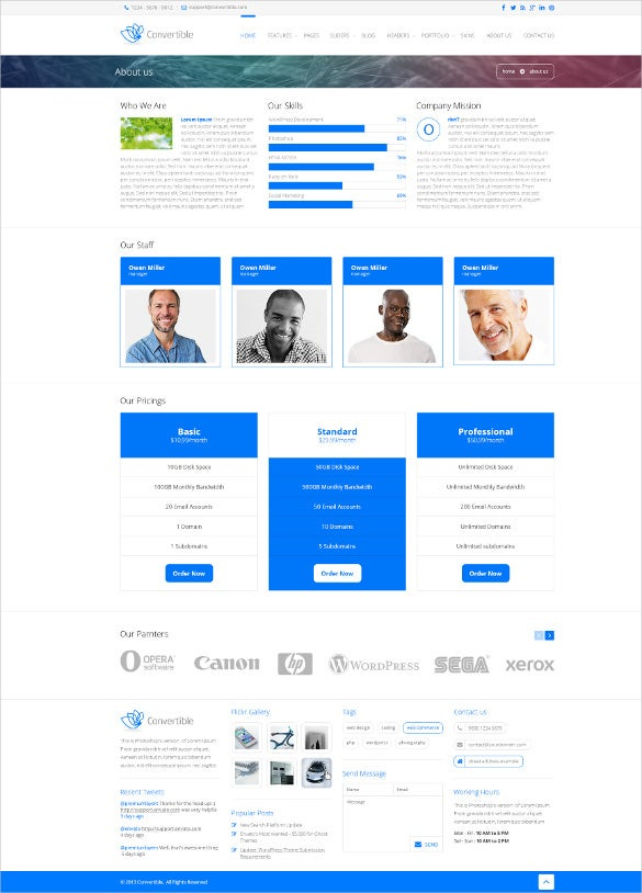 responsive convertable html5 template