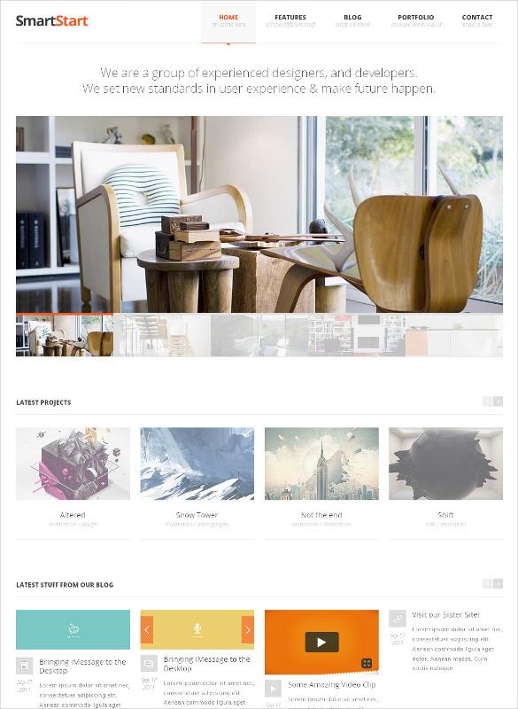 smart responsive html5 template