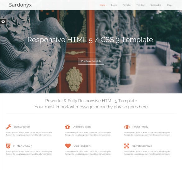 fully responsive business html5 template