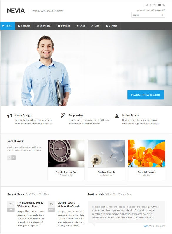 41 business html5 themes templates free premium templates premium responsive html5 template 17 flashek Image collections