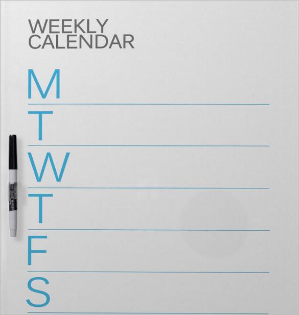 weekly schedule template  u2013 12  free word  excel  pdf