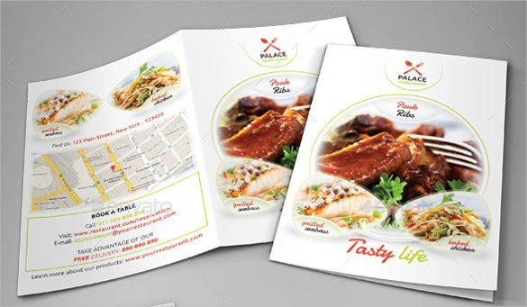 restaurant menu vector epd template download