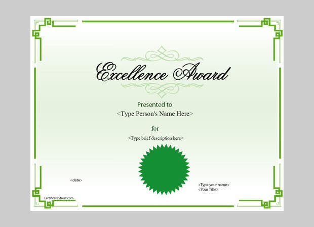 Academic award certificate templates gallery certificate design sample academic award certificate choice image certificate excellence award certificate template free award certificate template award yelopaper Image collections