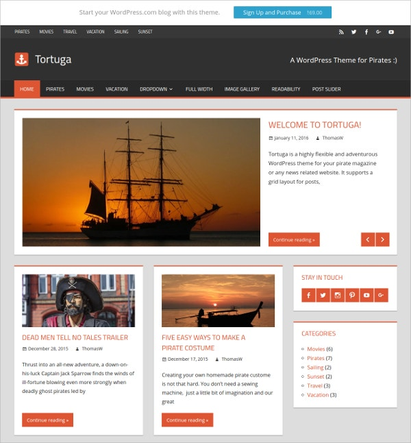 Magazine Personal Blog WordPress Website Theme $69