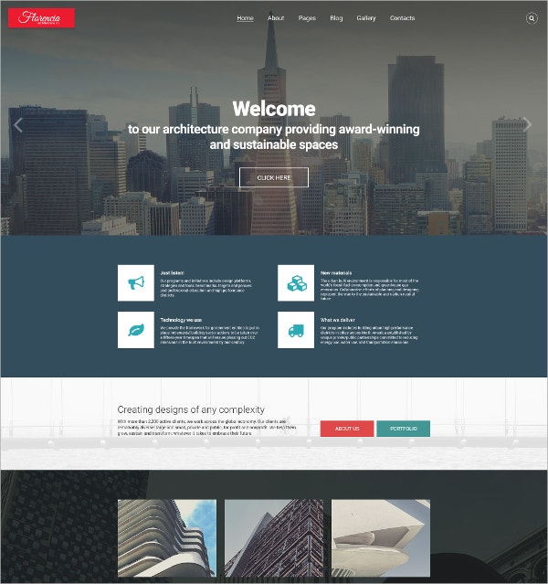 Architecture Joomla Website Template for Company $75