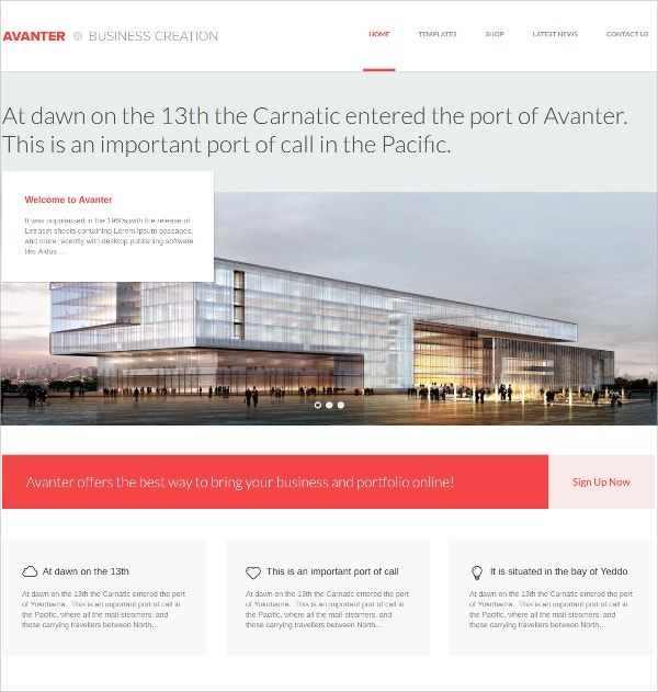 Corporate & Architecture Website Theme $59