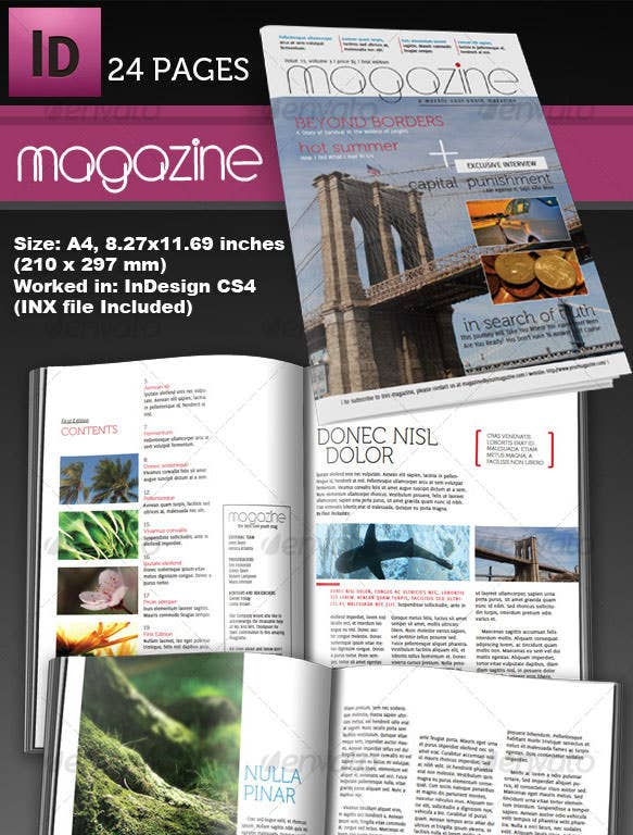 adobe indesign magazine templates free download - 66 brand new magazine template free word psd eps ai